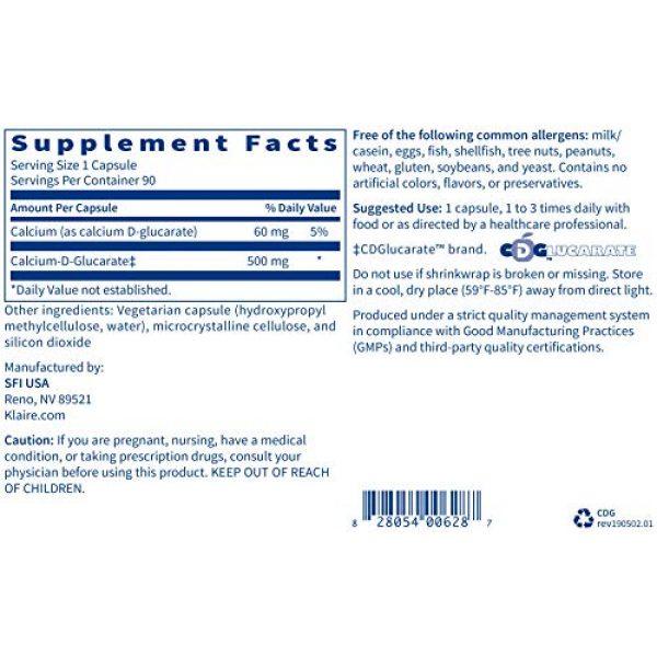 Klaire Labs Calcium Supplement 5 Klaire Labs Calcium D-Glucarate 500mg - Supports Healthy Estrogen Metabolism & Detoxification - Liver & Detox Support Supplement - Gluten-Free, Yeast-Free & Hypoallergenic (90 Capsules)