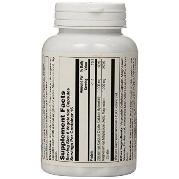 Solaray Calcium Supplement 3 Solaray Cal-Mag Citrate 1:1, Veg Cap (Btl-Plastic)   90ct