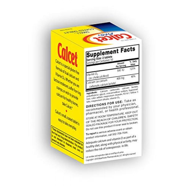 Mission Pharmacal Calcium Supplement 7 Mission Pharmacal Calcet Petites, 100 Small Coated Tablets