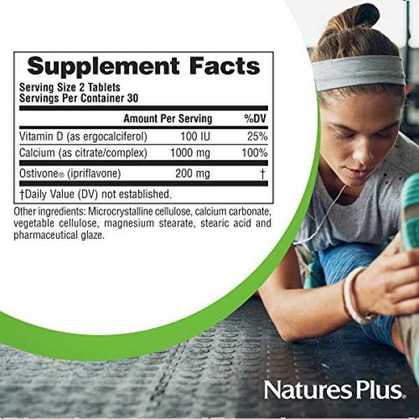 Nature's Plus Calcium Supplement 6 NaturesPlus Advanced Therapeutics Ostivone Rx Bone - 60 Vegetarian Tablets - Maximum Nutritional Support for Skeletal System & Bones - with Vitamin D, Calcium - Gluten-Free - 30 Servings