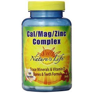 Nature's Life Calcium Supplement 1 Nature's Life Cal/Mag/Zinc Capsules, 1000/500/15 Mg, 100 Count