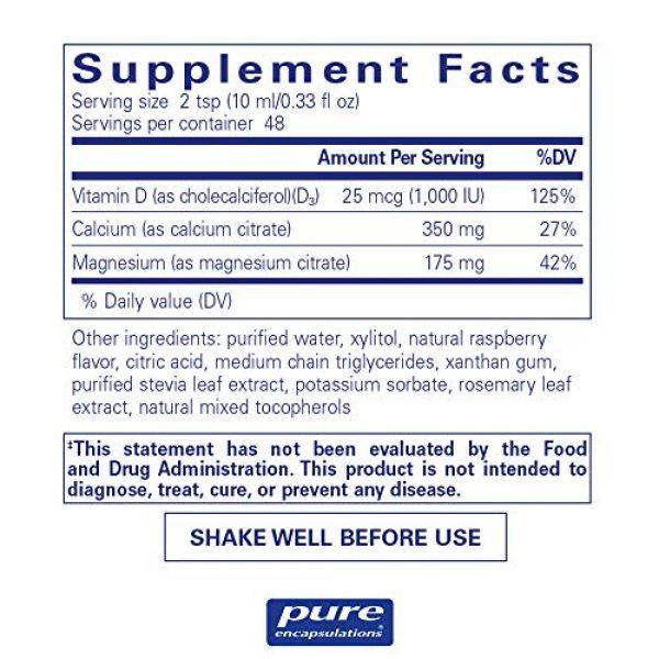 Pure Encapsulations Calcium Supplement 2 Pure Encapsulations - Cal/Mag/D Liquid - Calcium, Magnesium and Vitamin D in a Convenient Liquid Form - 16.2 fl. oz.