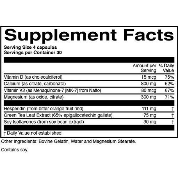 ScienceBased Health Calcium Supplement 3 BoneProtect - Advanced Calcium Supplement for Bone Health - 800 Mg. Calcium, Vitamin D, Vitamin K, Soy Isoflavones, Hesperidin, Green Tea Extract - 120 Capsules