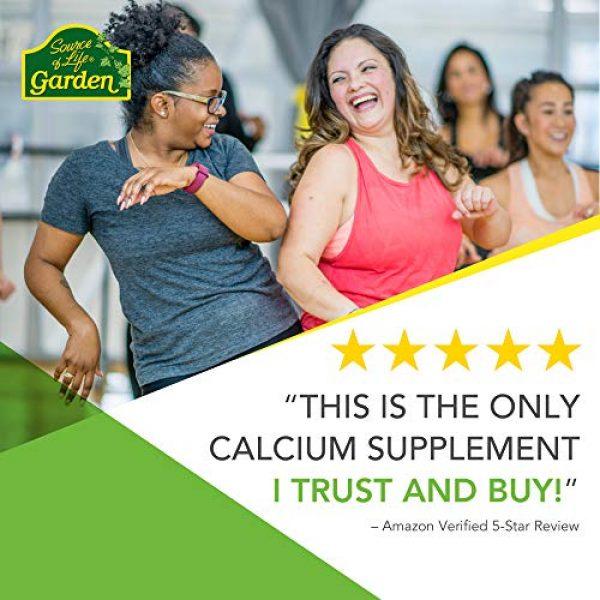 Nature's Plus Calcium Supplement 2 NaturesPlus Source of Life Garden Certified Organic Calcium with AlgaeCal - 1000 mg, 120 Vegan Capsules - Plant-Based Bone Health Support Supplement - Vegetarian, Gluten-Free - 30 Servings