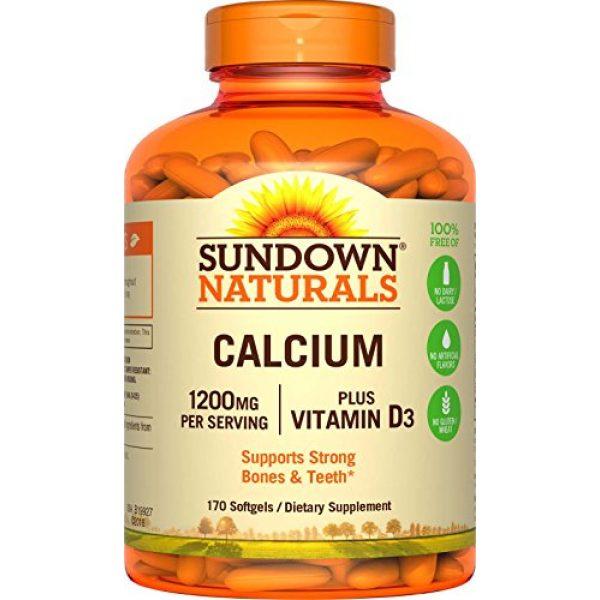 Sundown Calcium Supplement 1 Sundown Calcium Plus Vitamin D3, 1200mg, Soft Gels, 170 Count