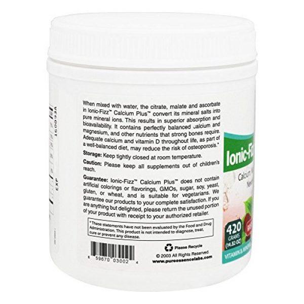 PURE ESSENCE LABS Calcium Supplement 5 Pure Essence Labs - Ionic-Fizz Calcium Plus Dairy Free Raspberry Lemonade Flavor - 14.82 oz.