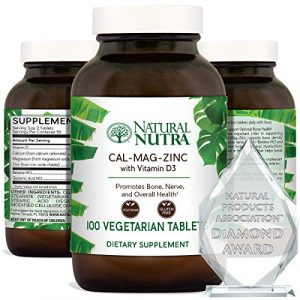 Natural Nutra Calcium Supplement 1 Natural Nutra Calcium Magnesium Zinc Supplement with Vitamin D3 for Bone Strength, Health and Healing, Gluten Free and Sugar Free, Essential Mineral Complex - 100 Vegetarian Tablets