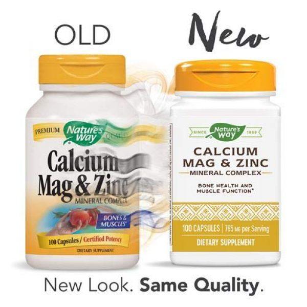Nature's Way Calcium Supplement 2 Nature's Way Calcium, Magnesium & Zinc, 765 mg per serving, 100 Capsules