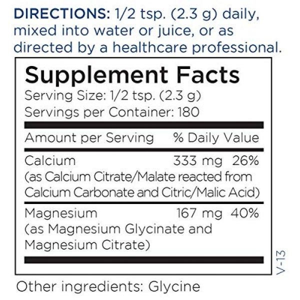 Metabolic Maintenance Calcium Supplement 5 Metabolic Maintenance Cal Mag Powder - Bioavailable Calcium Citrate Malate + Magnesium Glycinate Supplement for Bone + Heart Support - Easy Drink Add-in, Unsweetened (419g / 180 Servings)