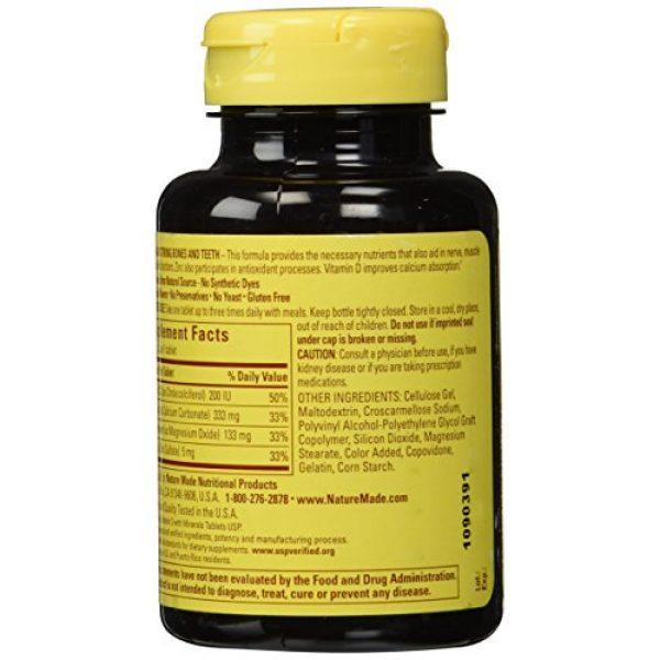 Nature Made Calcium Supplement 2 Nature Made Calcium Magnesium & Zinc Tabs, 100 ct