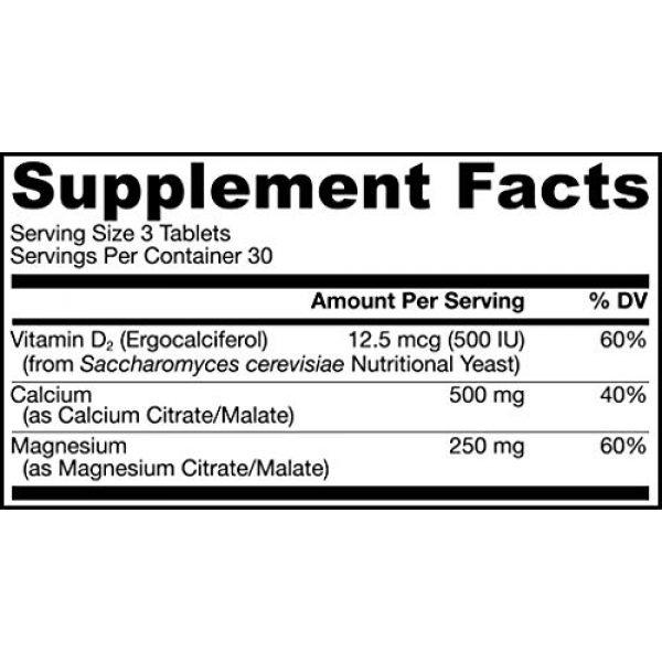 Jarrow Formulas Calcium Supplement 2 Jarrow Formulas CalMag Citrates with Malates and Vitamin D, Promotes Bone Health, 90 Tablets