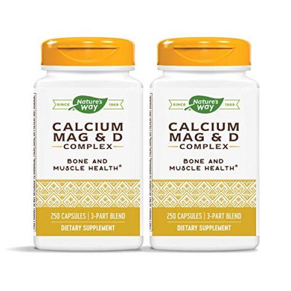 Nature's Way Calcium Supplement 1 Nature's Way Calcium, Magnesium & Vitamin D, 250 Capsules, Pack of 2