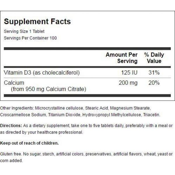 Nature's Blend Calcium Supplement 3 Nature's Blend Calcium Citrate with D3 100 Tabs