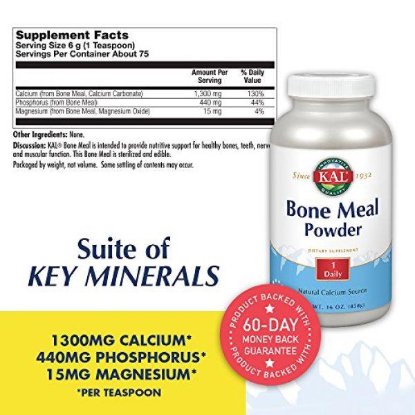 KAL Calcium Supplement 2 KAL Bone Meal Powder | Sterilized & Edible Supplement Rich in Calcium, Phosphorus, Magnesium | for Bones, Teeth, Nerves, Muscular Function | 16 oz