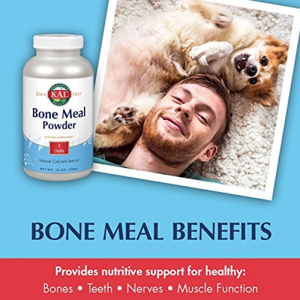 KAL Calcium Supplement 3 KAL Bone Meal Powder | Sterilized & Edible Supplement Rich in Calcium, Phosphorus, Magnesium | for Bones, Teeth, Nerves, Muscular Function | 16 oz