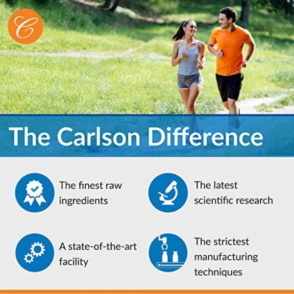 Carlson Calcium Supplement 6 Carlson - Chelated Calcium, 500 mg, Bone Health, Nerve Function & Healthy Teeth, 180 Tablets