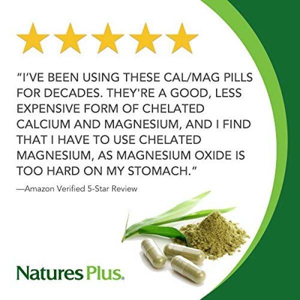 Nature's Plus Calcium Supplement 2 NaturesPlus Cal/Mag - 500 mg Calcium, 250 mg Magnesium, 180 Vegetarian Tablets - Bone Health Support Supplement, Promotes Heart Health - Gluten-Free - 180 Servings