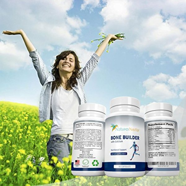 Nature's Nectar Calcium Supplement 6 Bone Builder Joint Supplements for Women - Increased Bone Health Plus New Growth - Fights Osteoporosis - Bone Strength Formula - Organic Bone Care for Max Raw Absorption Boost - Feel New Life & Alive