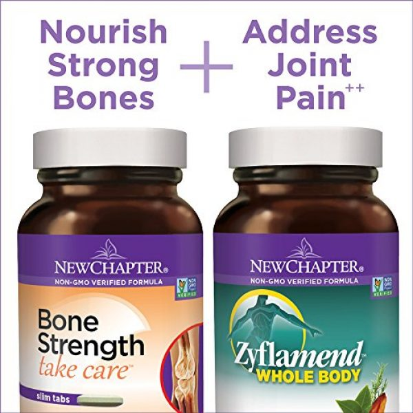 New Chapter Calcium Supplement 3 New Chapter Calcium + Joint Bundle with Bone Strength's Plant Calcium and Zyflamend's 10 Herb Blend for Herbal Pain Relief, 30 Day Supply