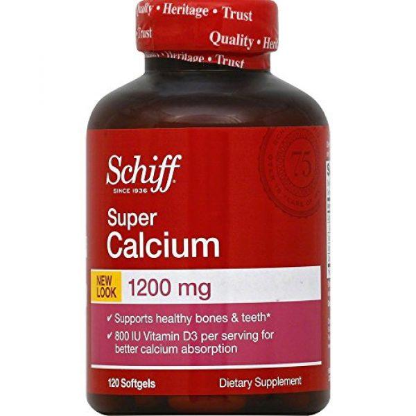 Schiff Calcium Supplement 1 Schiff Super Calcium 1200mg with Vitamin D3, 120 softgels - Calcium Supplement (Pack of 3)