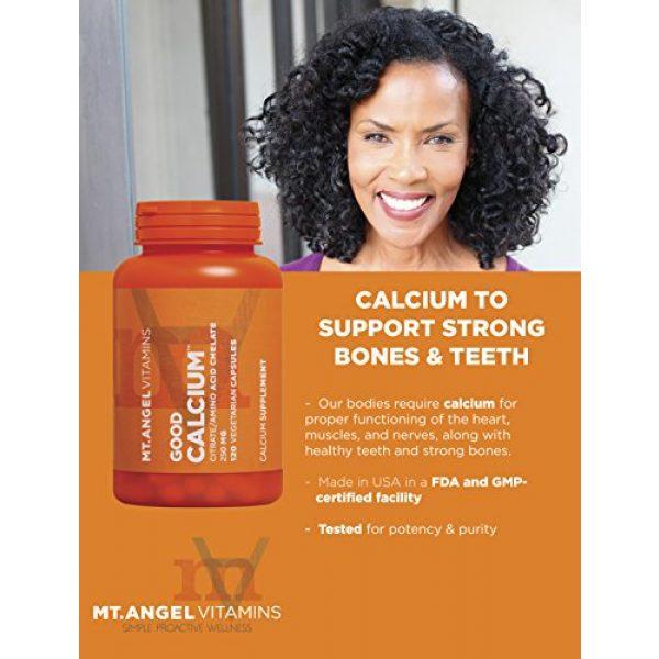 Mt. Angel Vitamins Calcium Supplement 4 Mt. Angel Vitamins - Good Calcium, Citrat/AminoAcid (120 Vegetarian Capsules)