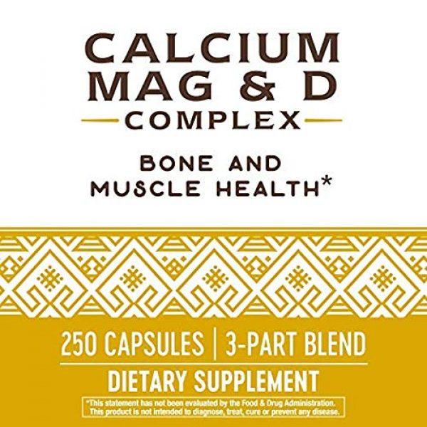 Nature's Way Calcium Supplement 5 Nature's Way Calcium, Magnesium & Vitamin D, 250 Capsules, Pack of 2