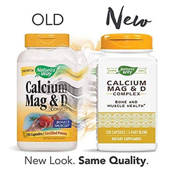 Nature's Way Calcium Supplement 2 Nature's Way Calcium, Magnesium & Vitamin D, 250 Capsules, Pack of 2