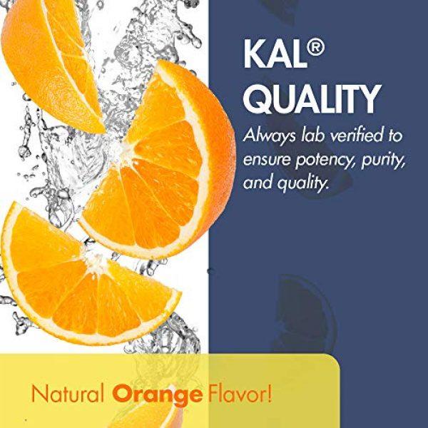 KAL Calcium Supplement 5 KAL Liquid Cal-Mag+ Vitamin D-3 | Natural Orange Flavor | Healthy Bones, Muscle & Heart Support | 30 Serv | 16 oz