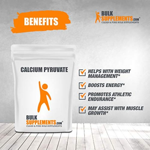 BulkSupplements Calcium Supplement 3 BulkSupplements Calcium Pyruvate Powder (100 Grams)