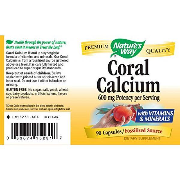 Nature's Way Calcium Supplement 3 Nature's Way Coral Calcium 600 mg w/vitamins & minerals, 90 Count