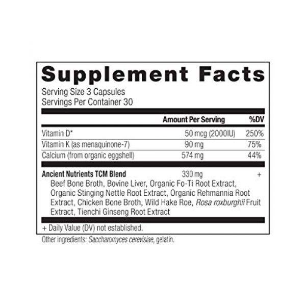 Ancient Nutrition Calcium Supplement 2 Ancient Nutrients Calcium - Food Form Calcium, Vitamin D for Immune Support & K2, Adaptogenic Herbs, Enzyme Activated, 90 Capsules