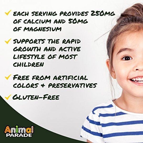Nature's Plus Calcium Supplement 5 NaturesPlus Animal Parade Source of Life Calcium Children's Chewable Multivitamin - Natural Vanilla Sundae Flavor - 90 Chewable Tablets - Promotes Healthy Bones - Gluten-Free - 90 Servings