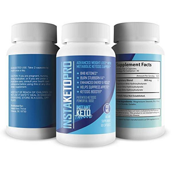 Instant Keto Thrive Calcium Supplement 4 InstaKeto Pro - Burn More Fat Faster Than Ever with Bhb Supported Ketosis - Lose Weight -Pure Bhb Exogenous Ketones Designed to Jump Start The Keto Diet - by Instant Keto Thrive