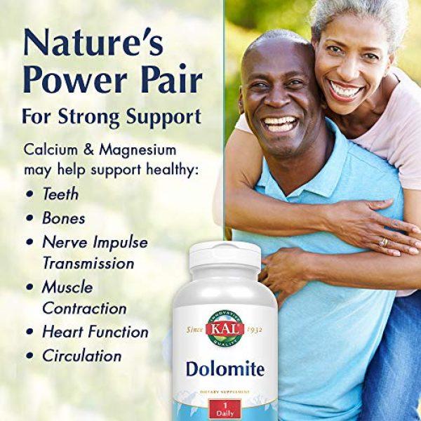 KAL Calcium Supplement 3 KAL Dolomite Tablets, 250.4 mg, 500 Count