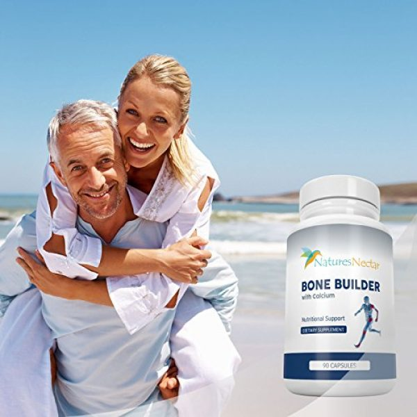 Nature's Nectar Calcium Supplement 4 Bone Builder Joint Supplements for Women - Increased Bone Health Plus New Growth - Fights Osteoporosis - Bone Strength Formula - Organic Bone Care for Max Raw Absorption Boost - Feel New Life & Alive