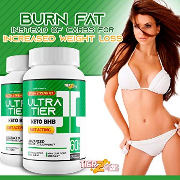 Tier 2 Keto Pills Calcium Supplement 6 Ultra Tier II Keto Pills with Bhb - Fast Acting Advanced Weight Loss Support - Burn More Fat & Lose More Weight with Faster Ketosis - Calcium BHB - Ketogenic Accelerator - Tier 2 Keto Pills