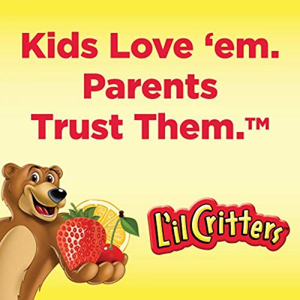 Lil Critters Calcium Supplement 4 L'il Critters Kids Calcium Gummy Bears with Vitamin D3 , 150ct