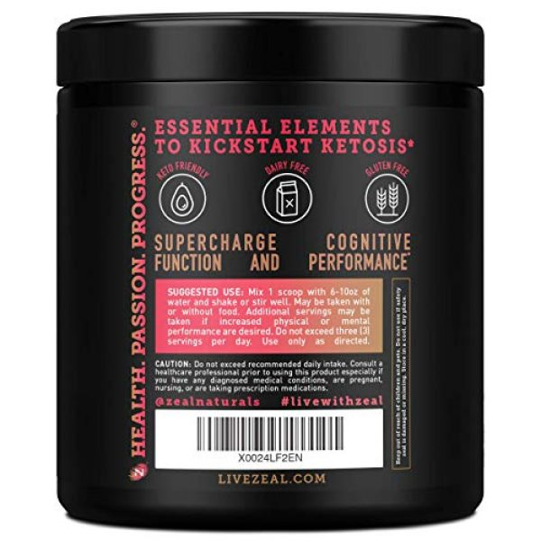 Zeal Naturals Calcium Supplement 3 Pure Exogenous Ketones BHB Powder (13g | 22 Servings) Best Tasting Keto Drink with goBHB® Salts Beta Hydroxybutyrate Supplement - Keto Powder for Weight Maintenance, Energy & Ignite Ketosis