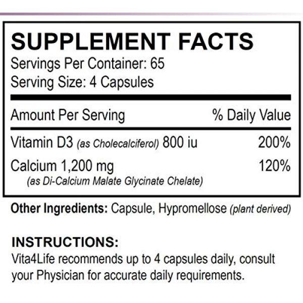 Vita4Life Calcium Supplement 3 Vita4life, 300 Mg, Calcium Malate Chelate 'Plus' Vitamin D3 Support - 260 Count
