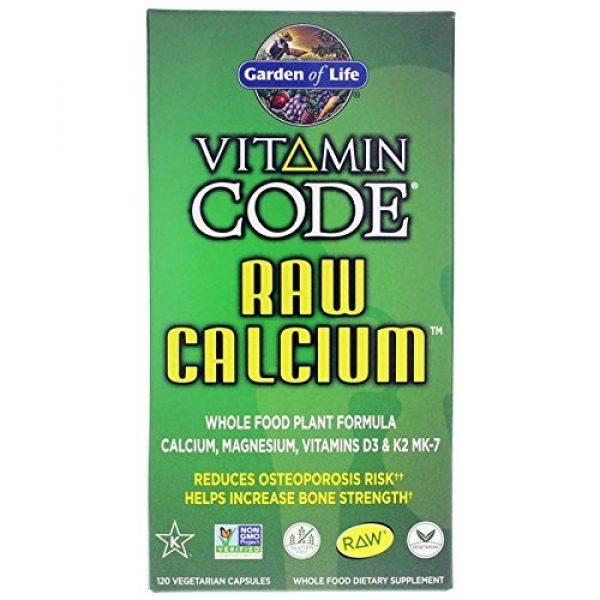Garden of Life Calcium Supplement 5 Vitamin Code RAW Calcium - 120 Capsules (Pack of 2)