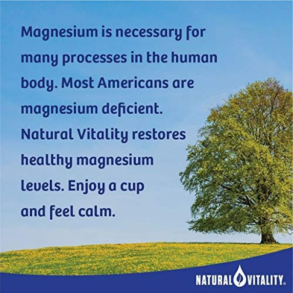 Natural Vitality Calcium Supplement 3 Natural Vitality Calm PLUS Calcium Supplement Powder, Raspberry Lemon- 8 ounce (Packaging May Vary)
