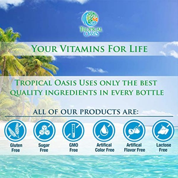 Tropical Oasis Calcium Supplement 6 Tropical Oasis Liquid Calcium & Magnesium - Natural formula w/ support for strong bones - Liquid vitamins w/ calcium, - 16oz, 32 Serv.