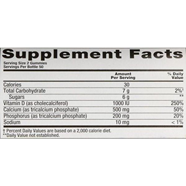 Vitafusion Calcium Supplement 4 VitaFusion Calcium with Vitamin D3 - 2 100 Count Bottles - 200 Gummies Total