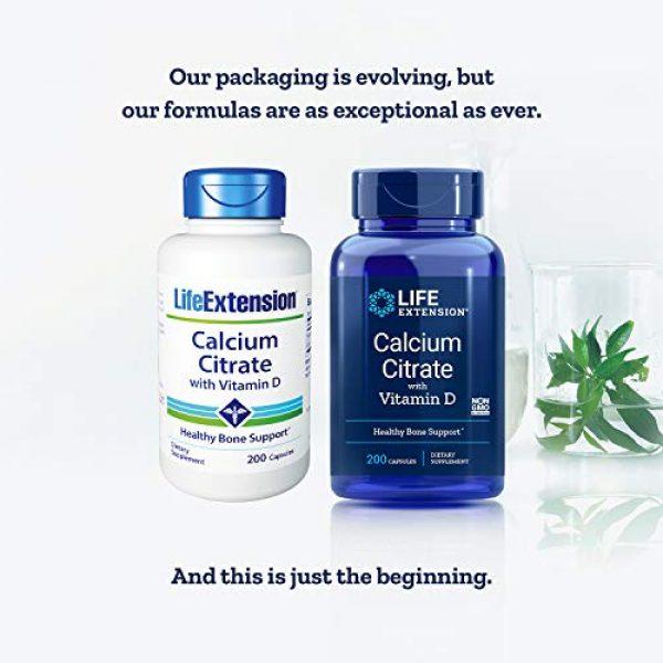 Life Extension Calcium Supplement 2 Life Extension Calcium Citrate with Vitamin D, 200 Vegetarian Capsules