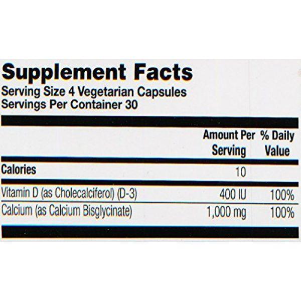 Solaray Calcium Supplement 6 Solaray Calcium w/ D3 Bisglycinate, Veg Cap (Btl-Plastic) 1000mg   120ct