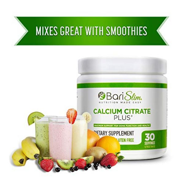 Bari Slim Calcium Supplement 5 BariSlim Bariatric Calcium Citrate Plus with Magnesium and Vitamin D - 600 mg of Calcium Citrate Per Serving - Formulated for Patients After Weight Loss Surgery - 30 Servings