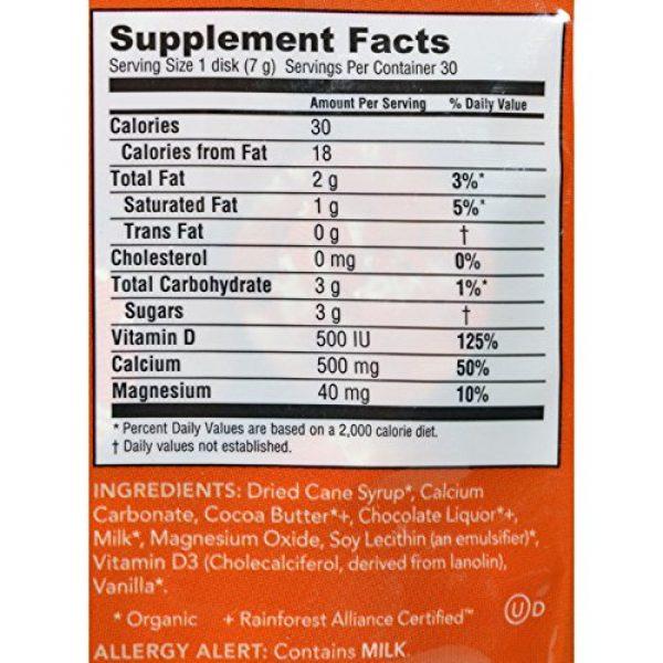 Adora Calcium Supplement 2 Adora 500 Milligram Calcium Supplement Disk, Organic Milk Chocolate, 30 Count (12 Pack)