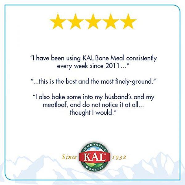 KAL Calcium Supplement 5 KAL Bone Meal Powder | Sterilized & Edible Supplement Rich in Calcium, Phosphorus, Magnesium | for Bones, Teeth, Nerves, Muscular Function | 16 oz
