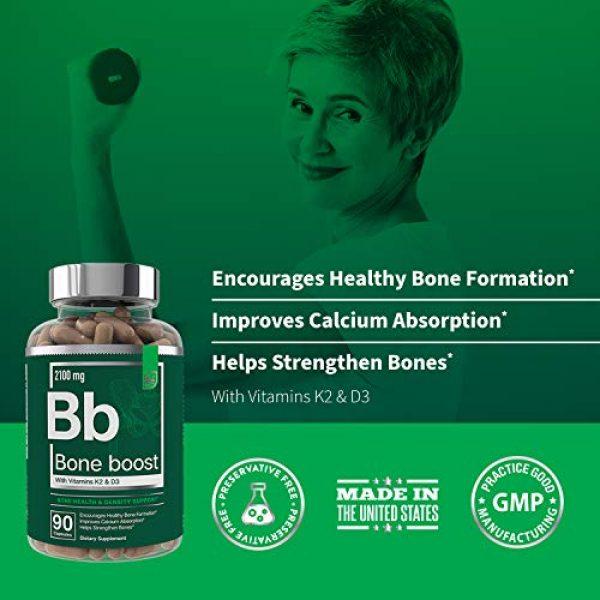 Essential Elements Calcium Supplement 7 Bone Boost Bone Health Supplement - Calcium, Vitamin D3, K2, Cissus Quadrangularis | Essential Elements for Bone Strength - 90 Capsules (30 Day Supply)