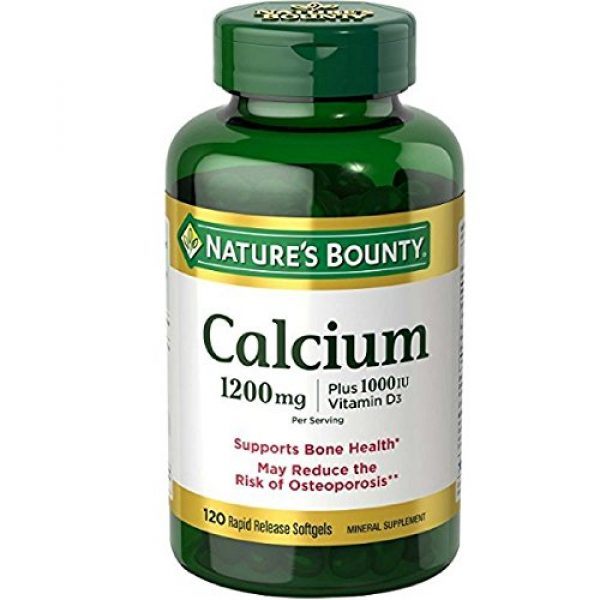 Nature's Bounty Calcium Supplement 1 Nature's Bounty Calcium Absorbable 1200 mg with Vitamin D Liquid Filled Soft Gels, 120 Count